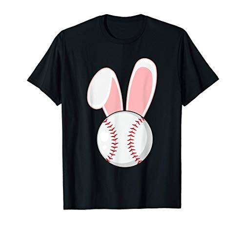 Funny Baseball Bunny Easter Shirts Kids Boys Toddler T-Shirt