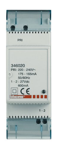 Reiheneinbau-Zusatznetzgerät für Video-Sprechanlagen, 27V DC, 600 mA, 2TE