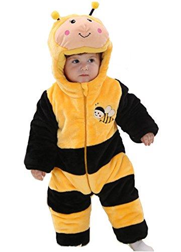 OHmais Bébé Fille garçon Unisexe Grenouillère Costume Deguisement Combinaison Pyjamas Hiver Abeille
