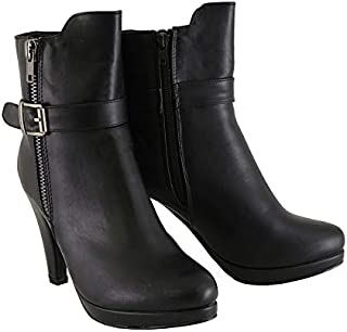 Milwaukee Performance Women's Side Zipper Entry High Heel Boots (Black, Size 8)