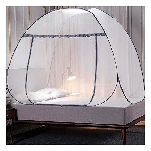 Meet World Pop Up Moskitonetz, tragbare Zelt Reise Doppeltür Reißverschluss Bett Netz, einfache Installation und feine Masche, perfekt für Schlafzimmer im Freien ,6,120*20OCM
