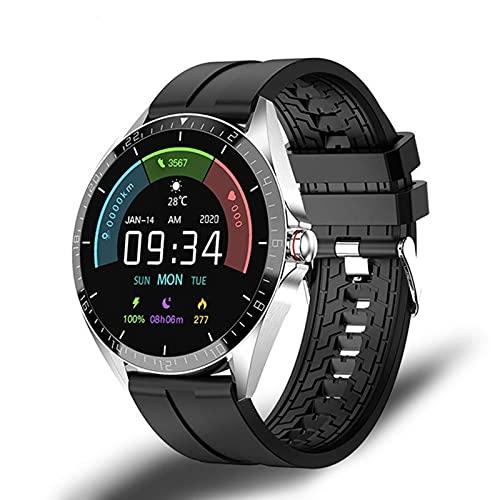 YYZ GW16T Bluetooth BT 5.0 Smart Watch Termómetro táctil Completo Monitor Monitor de Deportes Fitness Pulsera Inteligente Tasa del corazón y presión Arterial,B