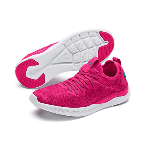 PUMA Damen Ignite Flash Irides TZ WNS Laufschuhe, Pink (Fuchsia Purple-Caribbean Sea), 39 EU