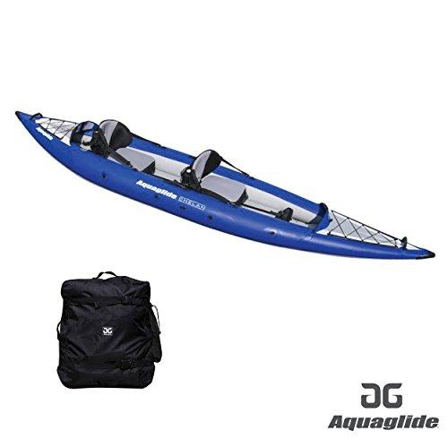 Aquaglide Schlauchboot Aufblasbares Kajak Chelan One HB Kanu, 345 cm x 91 cm L B Luftboot 1 Person