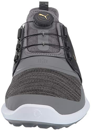 Puma Golf Men's Ignite Nxt Disc Golf Shoe, Quiet Shade-puma Team Gold-puma Black, 13 M US Michigan