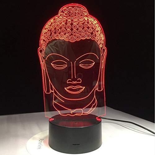 Bouddha Lampe Bouddhisme 3D LED Lumière USB Couleur Nuit Lumière Décoration Décoration Innovation Cadeau De Noël Pour La Bonne Chance