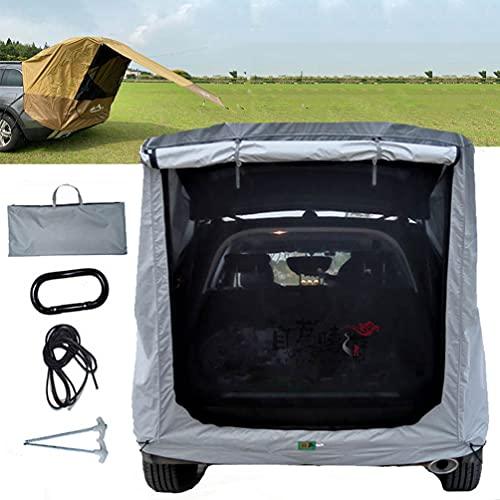 BrightFootBook SUV - Tienda Avance para Furgonetas de Camping, Carpa De Maletero para Coche, Autoconducción, Camping, Parasol Y Resistente a La Lluvia, Tienda De Campaña De Viaje,Silver-XL
