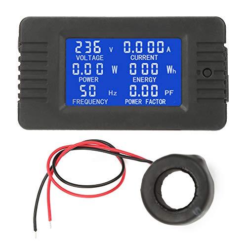 PEACEFAIR PZEM-022 LCD Anzeige Digitaler Wechselstrom Strom Stromzähler Test mit geschlossenem Typ CT 100A AC80-260V für Spannungs- und Strommessung