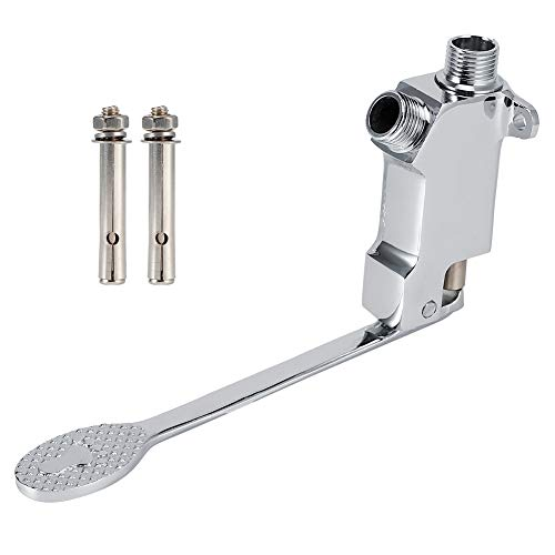 Ladieshow Accesorio de válvula de Pedal de pie de Montaje en Piso de Cobre con Rosca G1/2 para Grifo de Lavabo