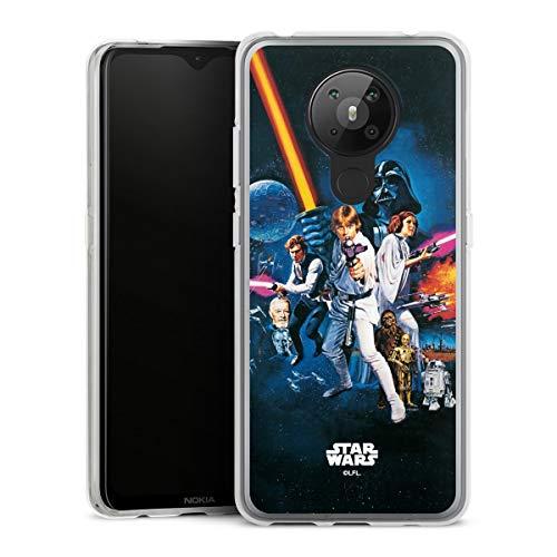 DeinDesign Silikon Hülle kompatibel mit Nokia 5.3 Case transparent Handyhülle Fanartikel Star Wars Episode IV