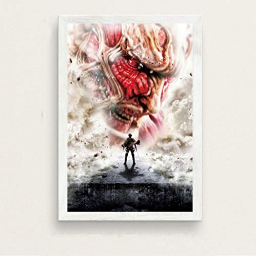 Attack On Titan Season 3 Hot Japan Anime Movie Art Painting Seda Canvas Poster Wall Home Decor Картины На Стену M144 (40X50Cm) Sin Marco