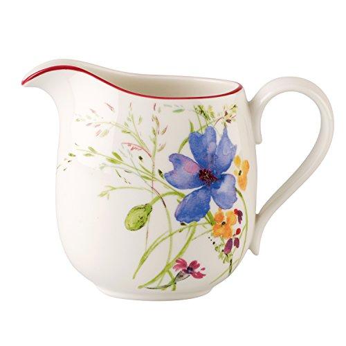 Villeroy & Boch - Pot à Lait Mariefleur Basic, Verseuse à Lait Belle et Pratique au Décor Floral, Blanc/Coloré, Compatible Lave-Vaisselle, 300 ml