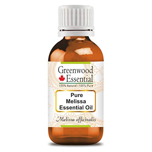 Greenwood Essential Pure Melissa Essential Oil (Melissa officinalis)100% Natural Therapeutic Grade Steam Distilled 30ml (1.01 oz)