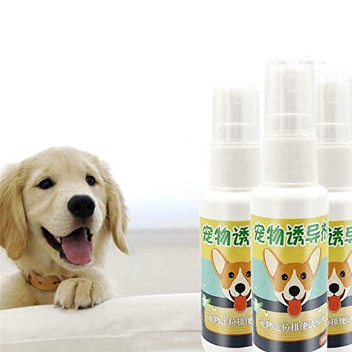 ZGHYBD 3 Pcs Pet Toilet Training Aid Spray 30ml,Dog Potty Training Spray,Help Puppies Pee At Specific Place, Dog Toilet Trainer Indoor Or Outdoor