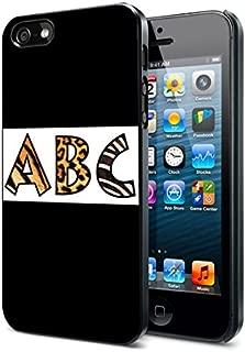 Abc Alphabet Animal Prints - Apple iPhone 4/4s Black Case