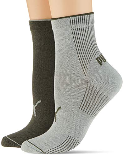 PUMA Women's Ribbed Short Socks (2 Pack) Calzino Casual, Verde Acqua, 35/38 (Pacco da 2) Donna