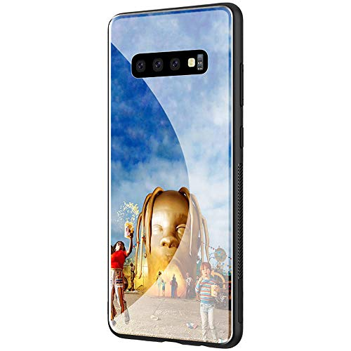 GUOZHAO Phone Case Samsung Galaxy S9,GZA-69 Travis Scott Astroworld Tempered Glass Back Black Cover and Soft Silicone Rubber Bumper Frame for Scratch-Resistant and Anti-Scratch Absorption