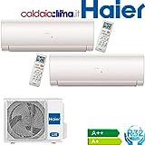 Condizionatore ClimatizzatoCondizionatore Climatizzatore Haier Dual Split Serie IES R-32 9000+12000 Con 2U50S2SC1FA Wi-Fi Optional