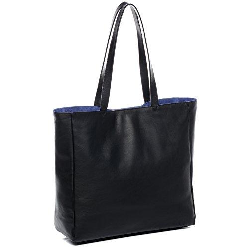 BACCINI® borsa per shopping vera pelle JUCY borsa a spalla Borsa a mano donna cuoio nero