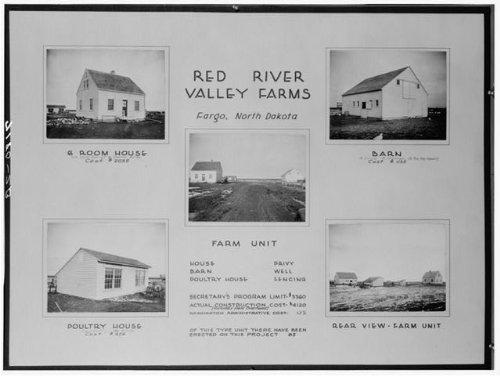 HistoricalFindings Photo: Red River Valley Farms,Fargo,North Dakota,ND,Farm Security Administration,FSA