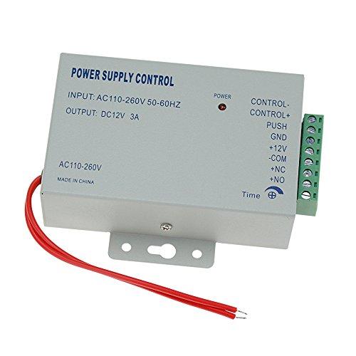 HFeng 110-240VAC a 12VDC 3A Control de Acceso Control de Fuente de Alimentación Interruptor del Controlador de Acceso de Puertas/Sistema de Intercomunicador de Vídeo Voltaje Mundial K80
