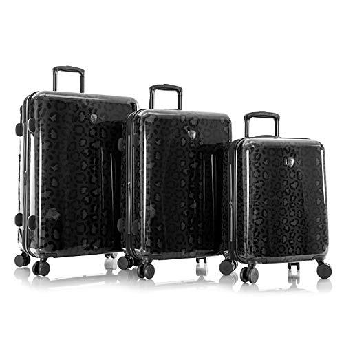 Heys America Black Leopard 3-Piece Hardside Spinner Luggage Set (Black Leopard)