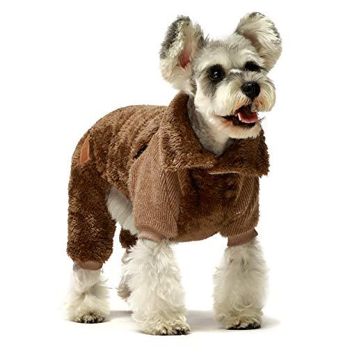 Fitwarm Fuzzy Thermo-Rollkragenpullover für Hunde, Winterkleidung, Haustier-Jumpsuits, Katzenmantel, Samt, Grau, XXL