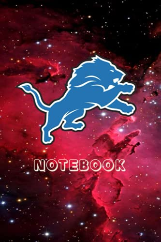 Football Notebook : Detroit Lions Daily Planner Notebook For Sport Fan Thankgiving , Christmas Gift Ideas Type #14