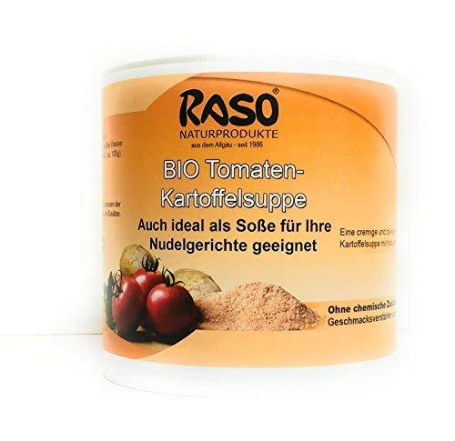Bio Tomaten Kartoffel Suppe VERSANDKOSTENFREI 250g Instant Suppe Tomaten Kartoffel Creme Suppe Pulver von RASO Naturprodukte Allgäu