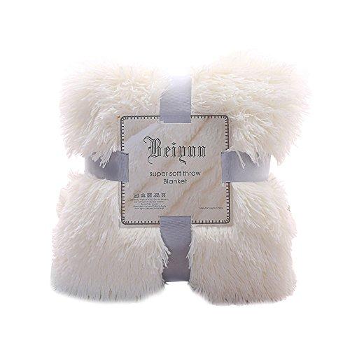 laamei Manta Suave de Sofá y Cama Manta Reversible Cálida con Tacto de Terciopelo para Sofá o Cama Pelucha Manta Resistente a Las Arrugas para Adultos y Infantiles