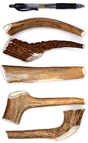 Perfect Pet Chews Deer Antler Dog Chew - Grade A, All Natural, Organic, and Long Lasting Treats - Made from Naturally Shed Antlers in The USA (D. Medium - Dog Weight 20–40 Lbs, 5 - Pack)