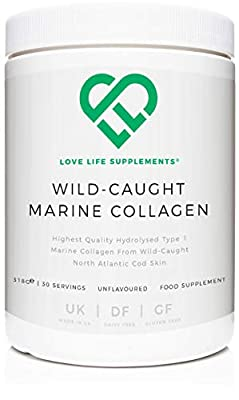 Wild-Caught Marine Collagen by LLS | Derived from North Atlantic Cod Skin | 318g - 30 Servings | Unflavoured | Love Life Supplements - 'Clean, Effective, High Quality'