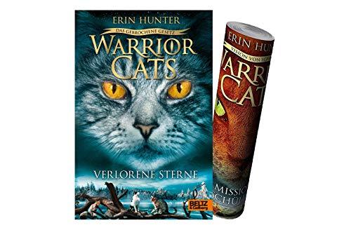 Warrior Cats - Das gebrochene Gesetz - Verlorene Sterne: Staffel VII, Band 1 + 1x Warrior-Cats Poster by Collectix (Gebundenes Buch)