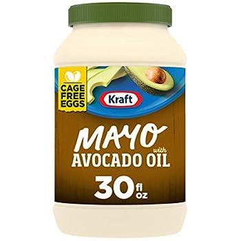 Kraft Mayo Avocado Oil Reduced Fat Mayonnaise  30 oz Jar -packaging may vary