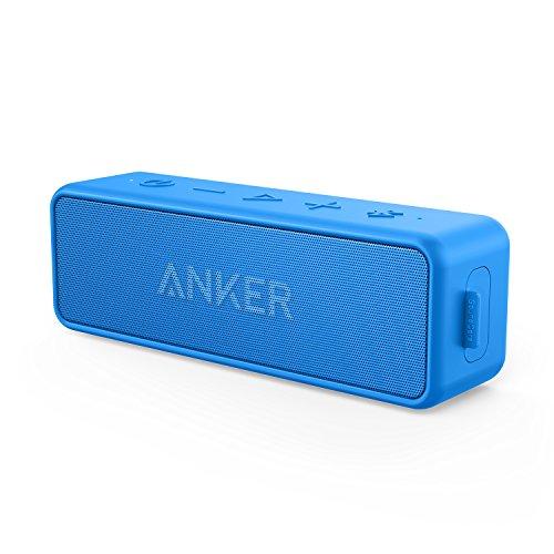 【改善版】Anker Soundcore 2 (12W Bluetooth 5 スピーカー 24時間連続再生)【完全ワイヤレスステレオ対応/強化された低音 / IPX7防水規格 / デュアルドライバー/マイク内蔵】(ブルー)