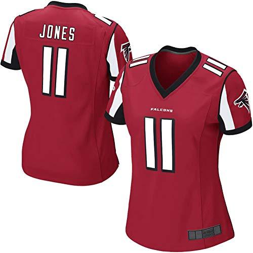 NMLB Herren Rugby-Trikot - 11# Julio Jones Atlanta Falcons Damen American Football-Trikot Sportler-Trikot Mesh Schnelltrocknende Fans Sweatshirt Girls Red Game-L