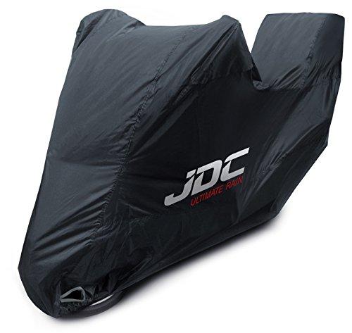 JDC Telo Copri Moto 100% Impermeabile - Ultimate Rain (Extra Forte, Fodera Felpata, Resistente al Calore, Cuciture Sigillate) - L con Bauletto