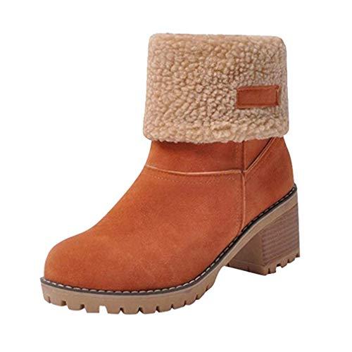 Yying Botas de Nieve para Mujer Botines Cortos Impermeables Zapatos Piel sintética...