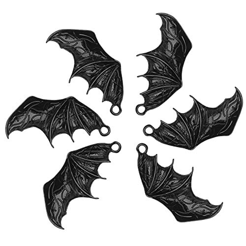 PartyKindom 5 PCS Halloween Ali di Pipistrello Decorazione Accessori Squisito Cosplay Batclip Bat Clip di per Vestiti Scarpe Borsa Accessori Orecchino