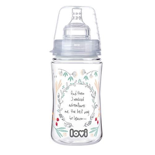 LOVI Anticólica Botella Biberón con Tetina Dinámica Silicona | 3m+ | 240ml | Sistema SUPER Air Vent | Protege el Reflejo Natural de Succión de Bebé | Médicamente Probado | Trends Indian Summer