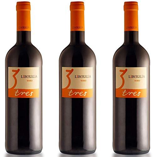 Liberalia Vino Tinto - 3 botellas x 750ml - total: 2250 ml