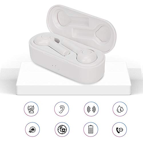 fosa Bluetooth Translator Earbuds with Charging Box, Wireless Translation Device Intelligent Headset Instant Translator for Learning Travel 33 Languages Real-time Translation Headset Earphones(White)