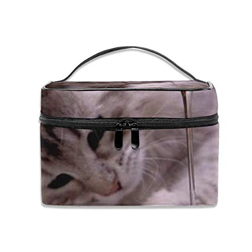 Cute Cat Kitten Paw Adorable Playing Water Travel Organizer Case Portable, Multifunction Case Toiletry Bags