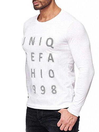 Red Bridge Herren Sweatshirt Pullover Kapuzenpullover Hoodie Sweater (S, M2044 - Weiß)