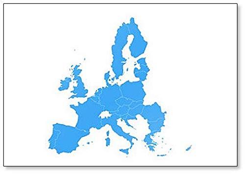 Politieke kaart van de Europese Unie, Eu, lidstaten Illustratie Koelkast Magneet