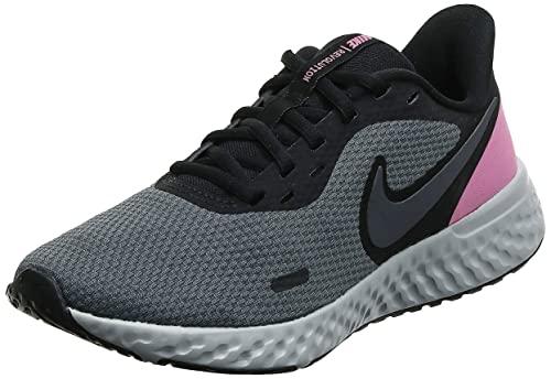 Nike Damskie buty do biegania Revolution 5, Black Psychic Pink Dark Grey Pure Platinum, 44.5 eu