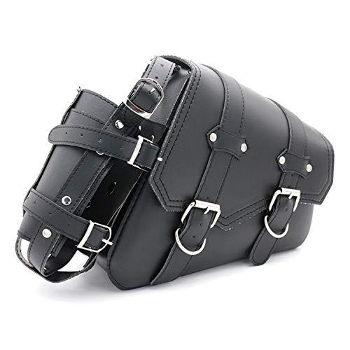 Universal Motorrad Satteltaschen PU Leder Seitliche Werkzeugtaschen für Harely Honda Suzuki Kawasaki Yamaha Satteltasche (Recht)