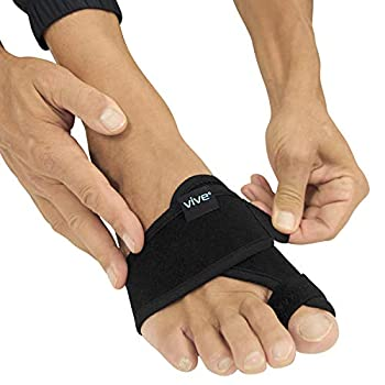 Vive Bunion Brace  Pair  - Big Toe Corrector Straightener with Splint - Hallux Valgus Pad Joint Pain Relief Alignment Treatment - Orthopedic Sleeve Foot Wrap Support for Men and Women  Black