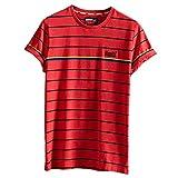 Superdry OL Bretton Stripe tee Camisa, Rojo (Grapefruit S0t), L para Hombre