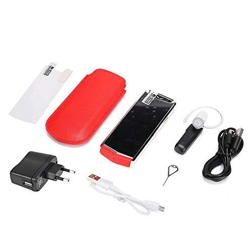 Wosune Teléfono móvil de Red Completa, teléfono con Doble Tarjeta, Mano de Obra Exquisita Viaje de Negocios Regalo de Negocios para obsequio de Negocios Teléfono de Negocios(Transl)